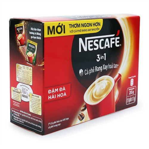 Cà phê hòa tan 3in1 Nescafé hộp 255g