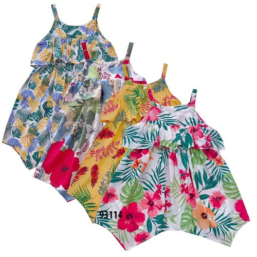 93114-M1- Váy đũi bé gái,hai dây,in hoa, hiệu sukids,size nhỡ 8-15,ri7