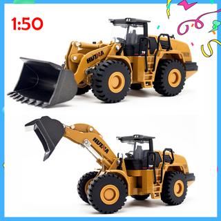 Xe ủi đất bằng sắt mô hình xe công trình đồ chơi trẻ em - xeuidat thumbnail