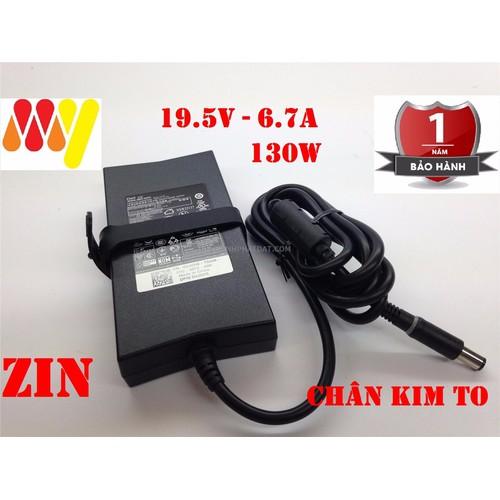 Sạc Laptop Dell 19.5v-6.7A 130W ZIN - Adapter Kèm Dây Nguồn XPS 15 17 M2400 M4400 M4500 M4700 M4800