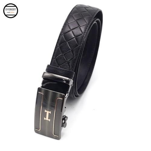 Thắt lưng da dây nịt da nam cao cấp thời trang Everest TLD-02-Đen