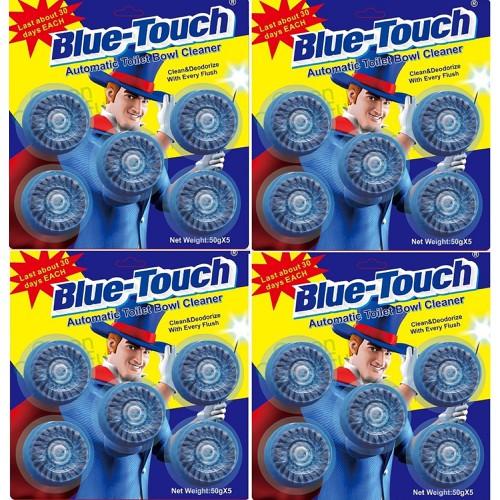 Combo 4 vỉ viên tẩy và khử mùi bồn cầu Blue-Touch - 4 vỉ 20 viên