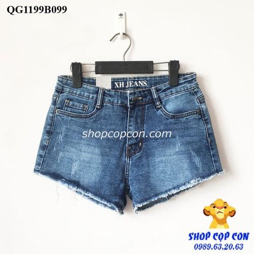 37-54kg. Quần short jean lai tua màu đậm size 26-30