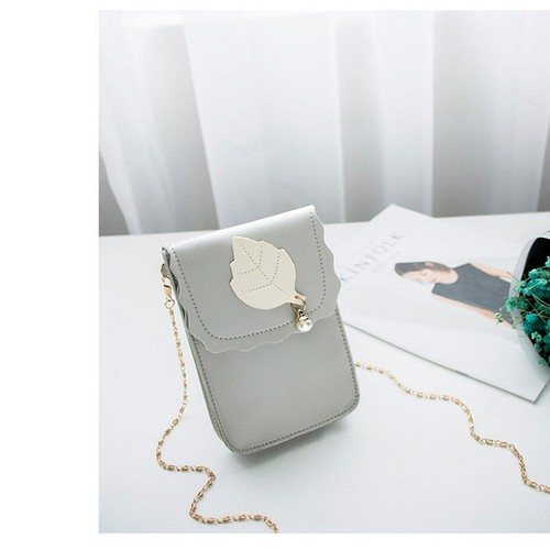 Túi đeo chéo nữ phong cách Hàn Quốc hình chiếc lá cực xinh - 8770108 , 17970417 , 15_17970417 , 140000 , Tui-deo-cheo-nu-phong-cach-Han-Quoc-hinh-chiec-la-cuc-xinh-15_17970417 , sendo.vn , Túi đeo chéo nữ phong cách Hàn Quốc hình chiếc lá cực xinh