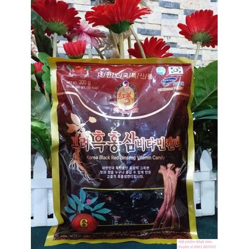 Kẹo Hắc Sâm Hàn Quốc Vitamin Black Red Ginseng 300g