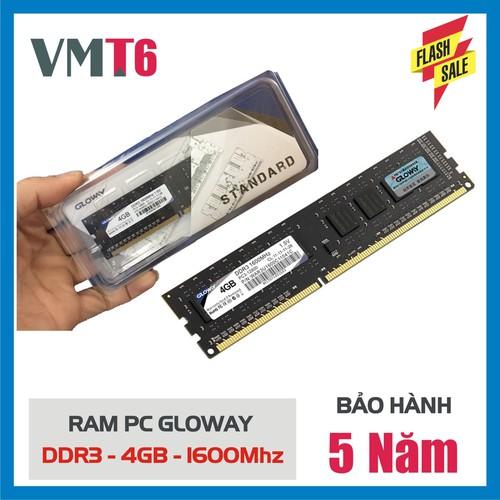 Bộ nhớ Ram Gloway DDR3 4G 1600MHz - Bảo hành chính hãng 5 năm