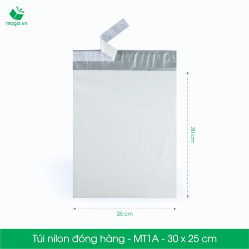 MT1A - 30x25 cm - 100 túi nilon 2 lớp đóng hàng thay thùng hộp carton