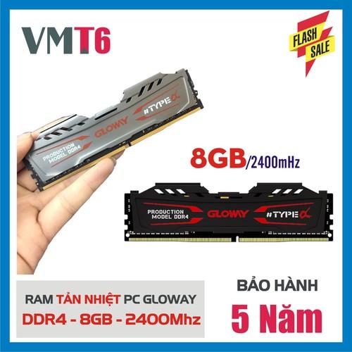 Ram Tản Nhiệt Gloway DDR4  8GB 2400MHz - Bảo Hành Chính Hãng 5 Năm