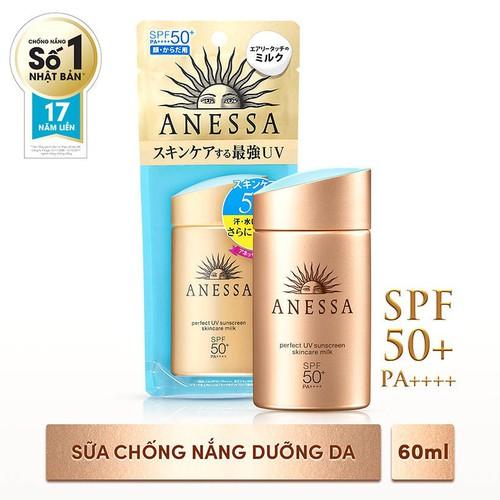 Sữa Chống Nắng Bảo Vệ Hoàn Hảo Anessa Perfect UV Sunscreen Skincare Milk 60ml