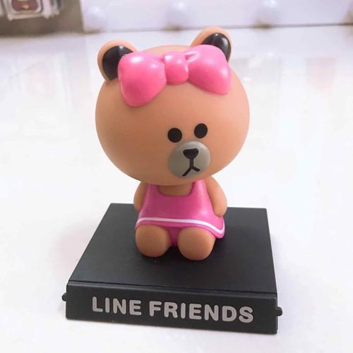 mô hình lắc đầu gấu cute