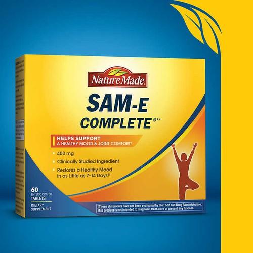 Viên uống hỗ trợ xương khớp và giảm stress Nature Made SAM e Complete 400mg 60 viên