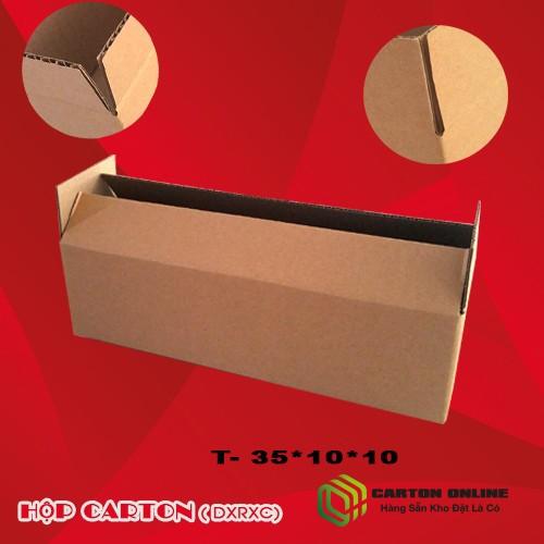 Combo 5 thùng carton 35x10x10 - hộp carton giá rẻ