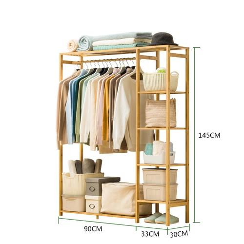 Tủ quần áo khung tre- tủ đồ- tủ quần áo 123x30x145