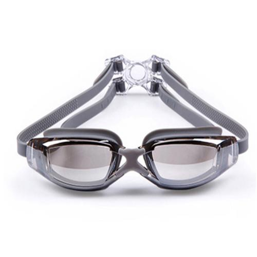 [Hỗ trợ 10k phí vận chuyển] kính bơi tráng gương chống sương và tia uv hq plaza t394i 2 màu xám
