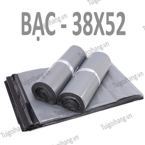 20 Túi Niêm Phong - Túi Gói Hàng Tự Dính Bạc 38x52cm