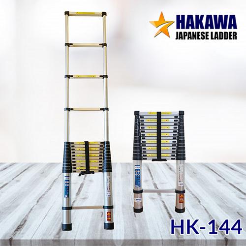 Thang nhôm rút siêu bền-thang Nhật Bản chính hãng-bảo hành 2 năm-thang HAKAWA HK144