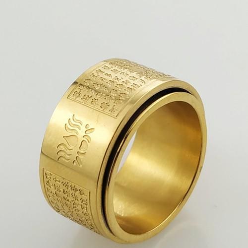 Nhẫn nam Bát Nhã Tâm Kinh xoay 360 độ - Nhẫn phong thủy Hán ngữ may mắn bình an