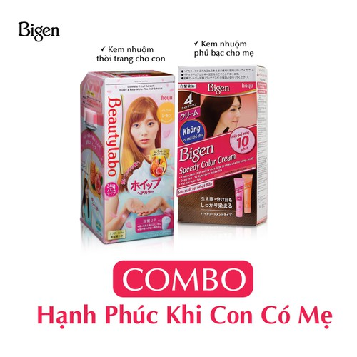 Combo Kem nhuộm tóc Bigen Nhật 80ml và Beautylabo 125ml - 8860038 , 18010260 , 15_18010260 , 411000 , Combo-Kem-nhuom-toc-Bigen-Nhat-80ml-va-Beautylabo-125ml-15_18010260 , sendo.vn , Combo Kem nhuộm tóc Bigen Nhật 80ml và Beautylabo 125ml