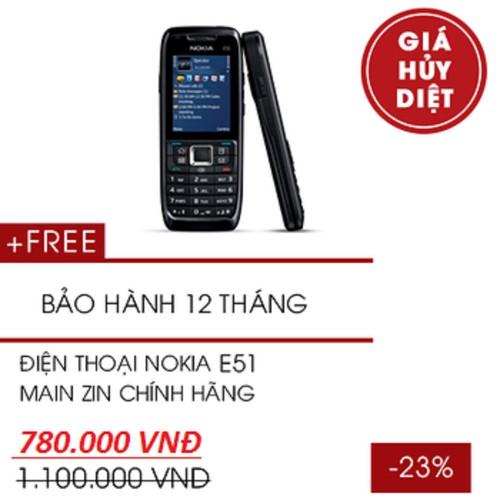 Điện Thoại Nokia E51 main zin chính hãng có pin và sạc Bảo hành 12 tháng