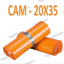 20 Túi Niêm Phong - Túi Chuyển Phát Nhanh Tự Dính Cam 20x35cm