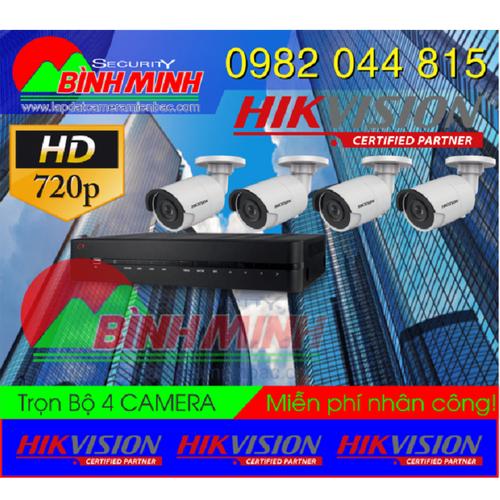 Trọn Bộ 4 Mắt Camera Chuẩn HD HikVision