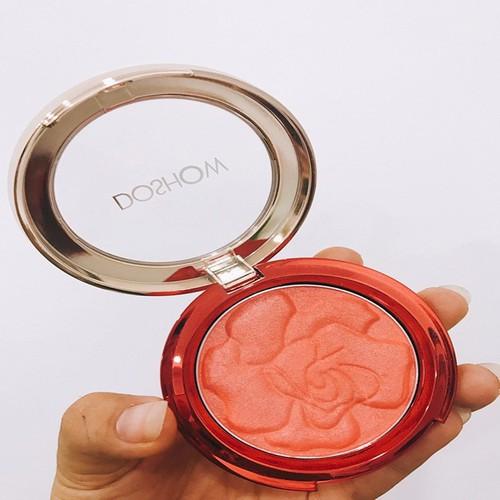 Phấn má hồng Doshow chính hãng Hongkong – có ánh nhũ nhẹ với tone hồng cam