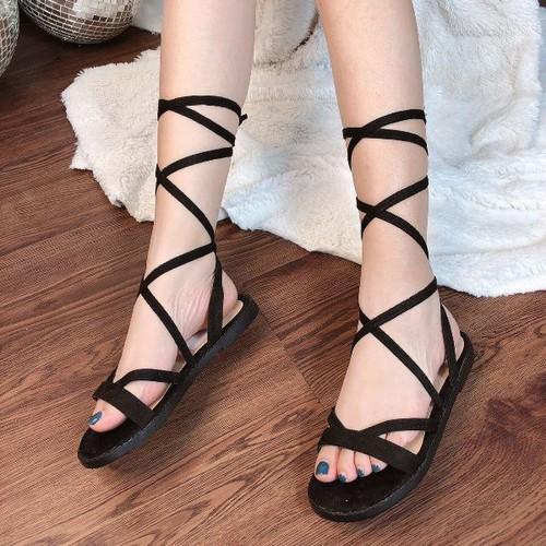 Giày sandal nữ đế bệt dây cuốn cổ - 4971165 , 17990720 , 15_17990720 , 270000 , Giay-sandal-nu-de-bet-day-cuon-co-15_17990720 , sendo.vn , Giày sandal nữ đế bệt dây cuốn cổ