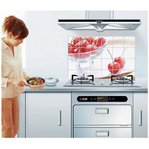 giấy dán tường bếp chống dầu mỡ loại to 60-90cm
