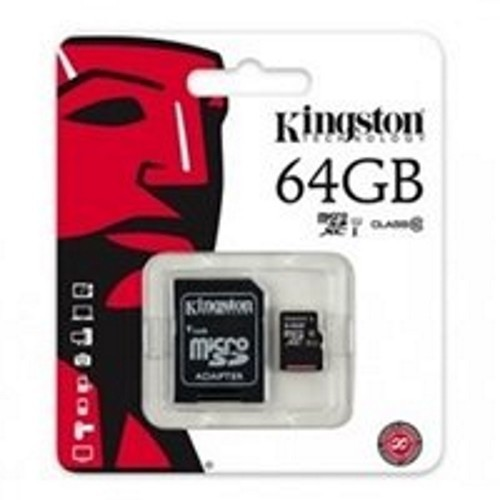 Thẻ Nhớ MicroSD 64GB + adapter Kingston Class 10