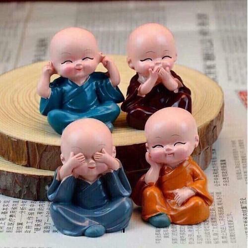 Bộ Tượng 4 Chú Tiểu- Tượng Phật Tứ Không