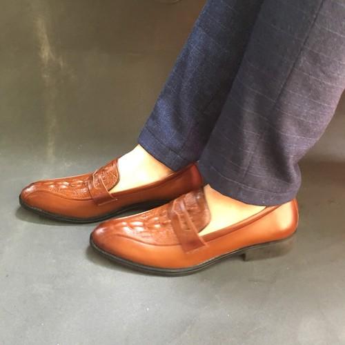 Giày da nam | Giày nam dập vân mẫu mới