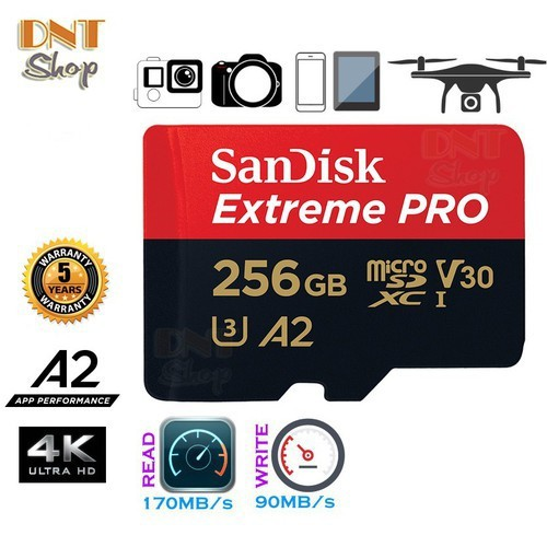 Micro SD Sandisk Pro 256 GB A2