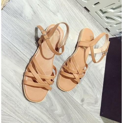 Giày sandal nữ đế bệt quai chéo - 4971173 , 17990729 , 15_17990729 , 215000 , Giay-sandal-nu-de-bet-quai-cheo-15_17990729 , sendo.vn , Giày sandal nữ đế bệt quai chéo