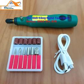 dụng cụ mài móng tay cao cấp chạy pin nhỏ gọn phù hợp với làm nail và chị em - dụng cụ làm nail cao cấp MM01 - mài móng chạy pin + phụ kiên