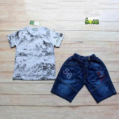Đồ bộ bé trai quần jean từ 22-48 kg - vnxk