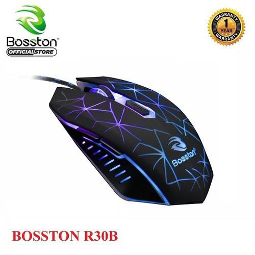 Chuột 6D chuyên game Bosston R30B led đa màu [Đen] - Hãng phân phối chính thức