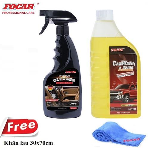 set Bọt rửa xe bọt tuyết FOCAR Car Wash Shine 850ml + Dung dịch vệ sinh nội thất ô tô FOCAR Interior Cleaner 500ml - Tặng khăn lau Microfiber - 8842595 , 17997005 , 15_17997005 , 380000 , set-Bot-rua-xe-bot-tuyet-FOCAR-Car-Wash-Shine-850ml-Dung-dich-ve-sinh-noi-that-o-to-FOCAR-Interior-Cleaner-500ml-Tang-khan-lau-Microfiber-15_17997005 , sendo.vn , set Bọt rửa xe bọt tuyết FOCAR Car Wash Shi