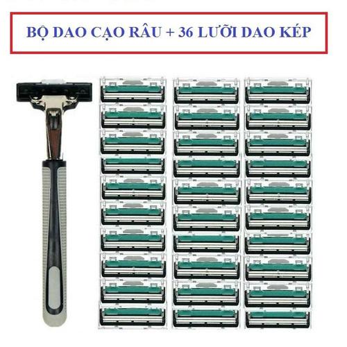 Combo 02 bộ Dao cạo râu kèm 36 lưỡi kép thay thế - 8850364 , 17999557 , 15_17999557 , 149000 , Combo-02-bo-Dao-cao-rau-kem-36-luoi-kep-thay-the-15_17999557 , sendo.vn , Combo 02 bộ Dao cạo râu kèm 36 lưỡi kép thay thế