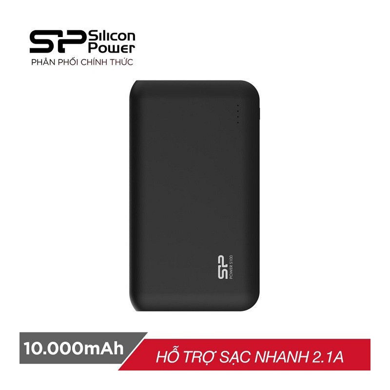 Pin sạc dự phòng Silicon Power S100 10.000mAh - Hãng phân phối chính thức - SDPS100
