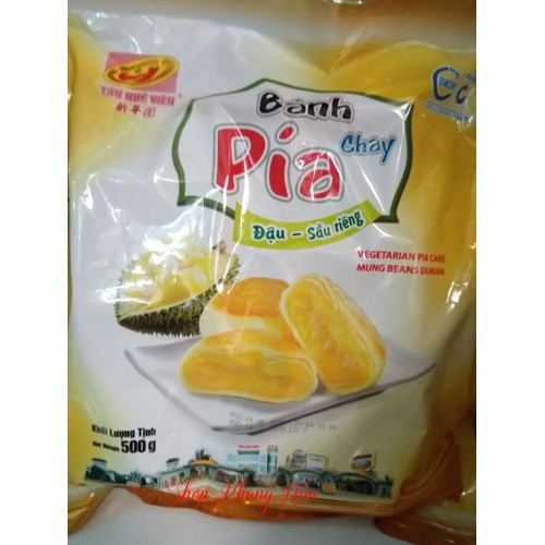 Bánh pía kim sa chay đậu-sầu riêng-Tân Huê Viên loại 500g 1 túi