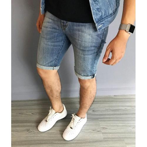 Quần short jean nam kiểu