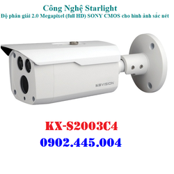 CAMERA 2MP CHIP SONY, STARTLIGHT KBVISION KX-S2003C4