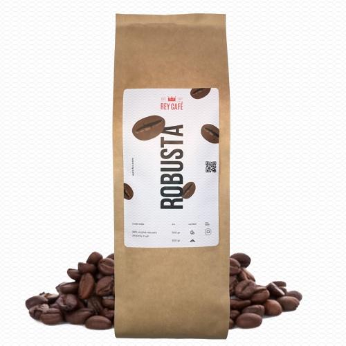 Cà phê Robusta nguyên chất có bơ - Gói 500gr - Thương hiệu Rey Cafe