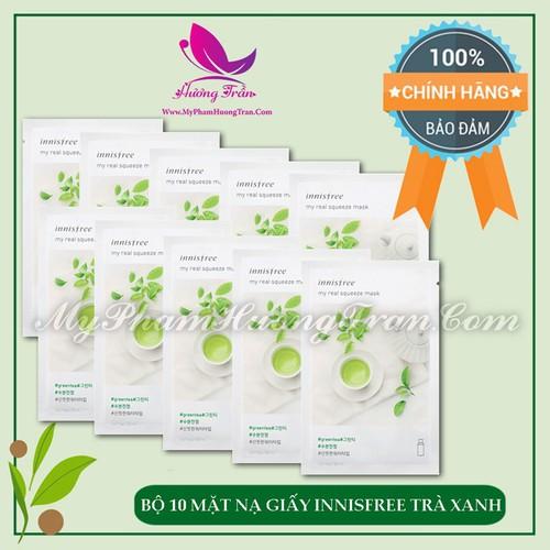 Bộ 10 mặt nạ giấy innisfree my real squeeze mask green tea trà xanh - chính hãng hàn quốc - 17078436 , 18913583 , 15_18913583 , 250000 , Bo-10-mat-na-giay-innisfree-my-real-squeeze-mask-green-tea-tra-xanh-chinh-hang-han-quoc-15_18913583 , sendo.vn , Bộ 10 mặt nạ giấy innisfree my real squeeze mask green tea trà xanh - chính hãng hàn quốc