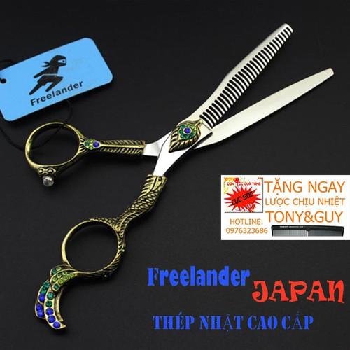 Kéo tỉa tóc 6 inch nhật bản freelander fr07 phượng hoàng đẹp cá tính, sắc bén tặng bao kéo kasho và 1 cây lược tony&guy