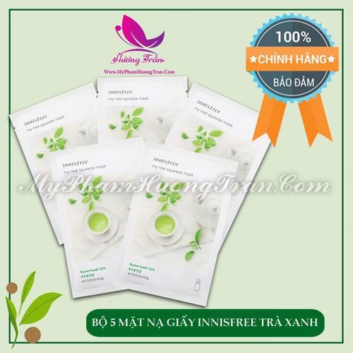 Bộ 5 mặt nạ giấy innisfree my real squeeze mask green tea trà xanh - chính hãng hàn quốc - 17142952 , 18913406 , 15_18913406 , 125000 , Bo-5-mat-na-giay-innisfree-my-real-squeeze-mask-green-tea-tra-xanh-chinh-hang-han-quoc-15_18913406 , sendo.vn , Bộ 5 mặt nạ giấy innisfree my real squeeze mask green tea trà xanh - chính hãng hàn quốc