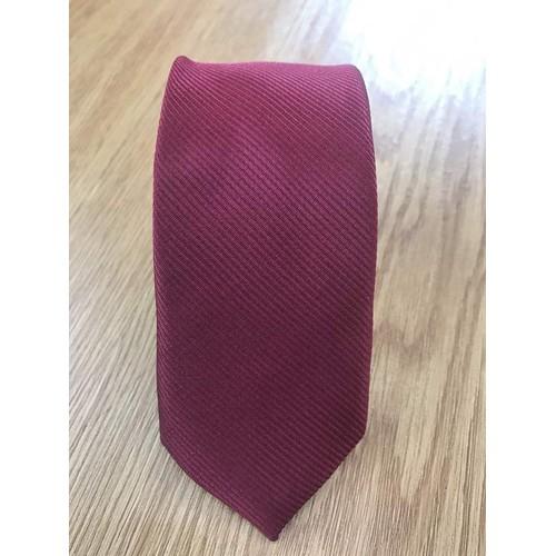 Cà vạt cao cấp đỏ mận vân chéo chìm