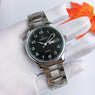 Đồng hồ nam dây kim loại chính hãng Oshrzo Pure Black - 8343G8 thumbnail