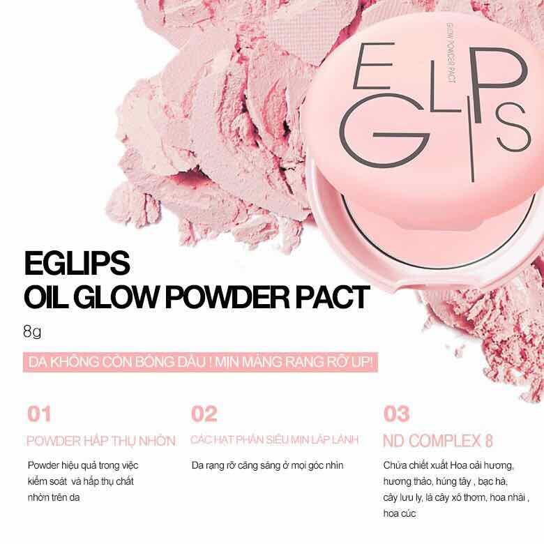 Phấn Phủ Hồng Hào Làn Da Eglips Glow Powder Pact