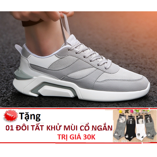 Giày nam thể thao runner ts039 ghi sáng